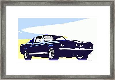 Vintage Shelby Gt500 Framed Print by Bob Orsillo