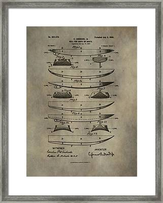 Vintage Ship Hull Patent Framed Print by Dan Sproul