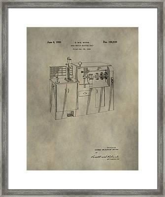 Vintage Shoe Repair Machine Patent Framed Print