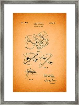 Vintage Shoulder Pad Patent 1956 Framed Print
