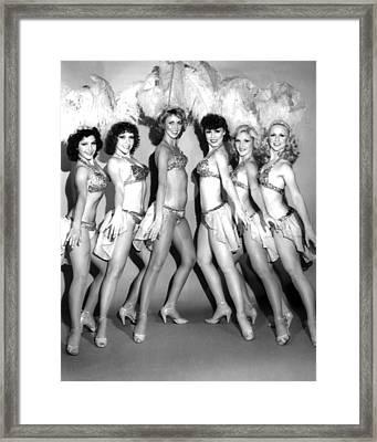 Vintage Showgirls Fine Art Print #01 Framed Print