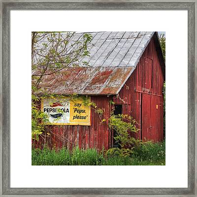 Vintage Sign Framed Print by Bill Wakeley