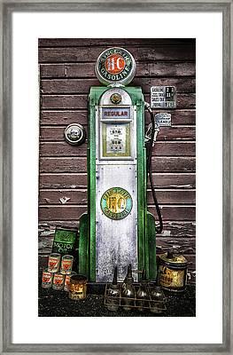Vintage Sinclair Gas Pump Framed Print by Thomas Schoeller