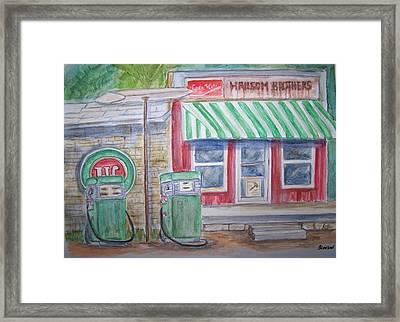 Vintage Sinclair Gas Station Framed Print by Belinda Lawson