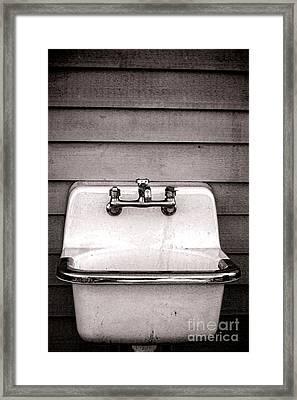 Vintage Sink Framed Print