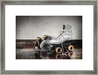 Vintage Skates Framed Print by Carlos Caetano