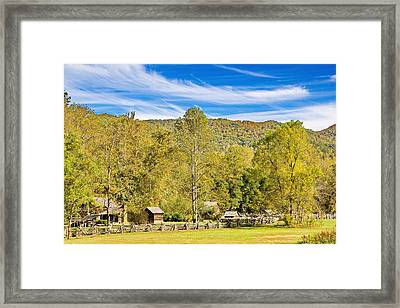 Vintage Smoky Mountain Farm Framed Print