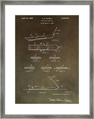 Vintage Snowboard Patent Framed Print