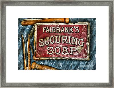 Vintage Soap Framed Print