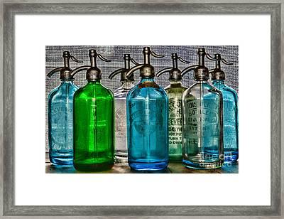 Vintage Soda Bottles Framed Print by Paul Ward