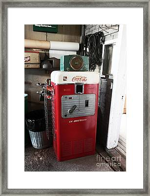 Vintage Soda Machine Framed Print by John Rizzuto