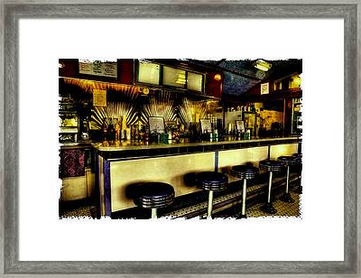 Vintage Soda Shop - The Bolton Bean Framed Print by David Patterson