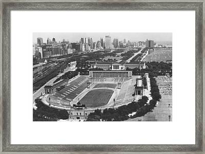 Vintage Soldier Field - Chicago Bears Stadium Framed Print