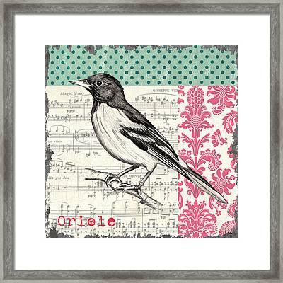 Vintage Songbird 2 Framed Print by Debbie DeWitt