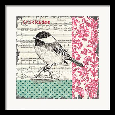 Birds And Flowers Framed Prints