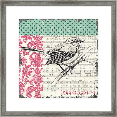 Vintage Songbird 4 Framed Print by Debbie DeWitt