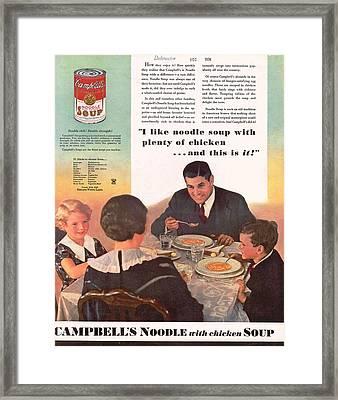 Vintage Soup Advert Framed Print by Georgia Fowler