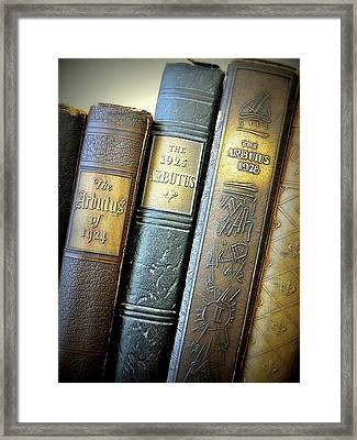 Vintage Spines Framed Print by Scott Kingery