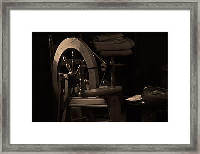 Vintage Spinning Wheel Framed Print