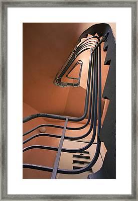 Vintage Spiral Stairs Framed Print