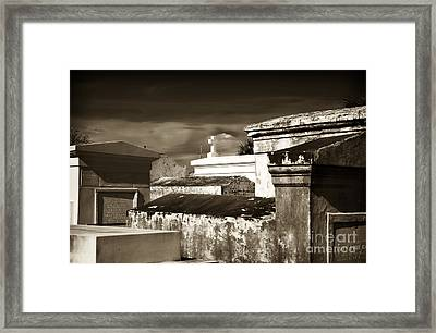 Vintage St. Louis Cemetery Framed Print by John Rizzuto