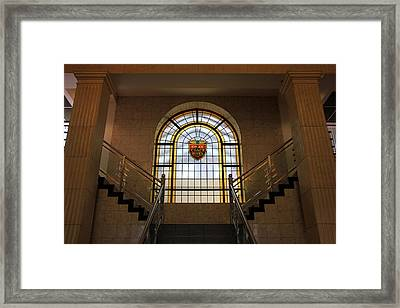 Vintage Stained Glass 1 Framed Print by Andrew Fare