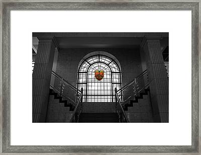 Vintage Stained Glass 2 Framed Print by Andrew Fare