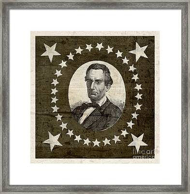 Vintage Star Spangled Abraham Lincoln Framed Print