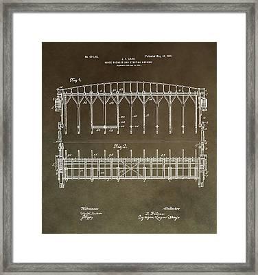 Vintage Starting Gate Patent Framed Print