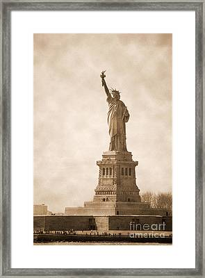 Vintage Statue Of Liberty Framed Print by RicardMN Photography