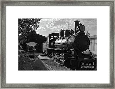 Vintage Steam Engine At Tacna Framed Print by James Brunker