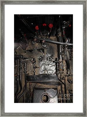 Vintage Steam Locomotive Cab Compartment 5d29253 Framed Print by Wingsdomain Art and Photography