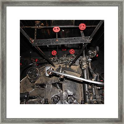 Vintage Steam Locomotive Cab Compartment 5d29254 Square Framed Print by Wingsdomain Art and Photography
