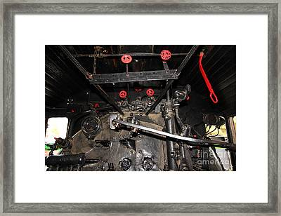 Vintage Steam Locomotive Cab Compartment 5d29254 Framed Print by Wingsdomain Art and Photography