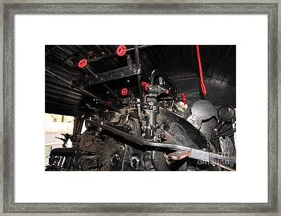 Vintage Steam Locomotive Cab Compartment 5d29256 Framed Print by Wingsdomain Art and Photography