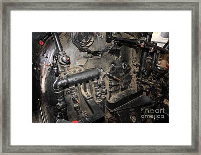 Vintage Steam Locomotive Cab Compartment 5d29264 Framed Print by Wingsdomain Art and Photography