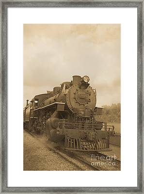 Vintage Steam Locomotive Framed Print