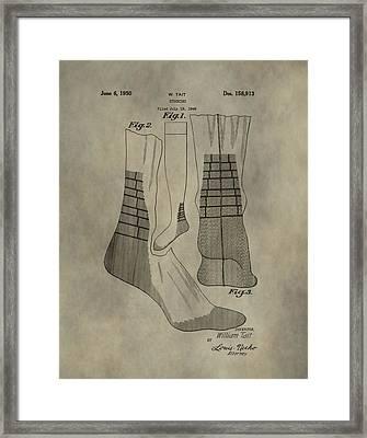 Vintage Stockings Patent Framed Print
