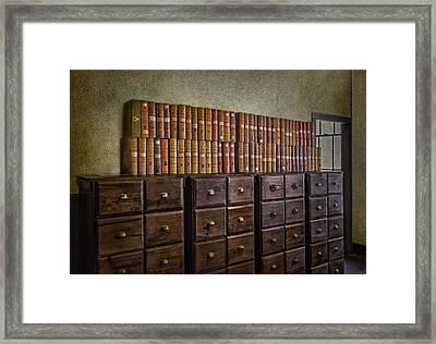 Vintage Storage Framed Print by Susan Candelario