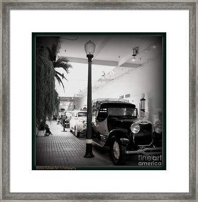 Vintage Street Framed Print
