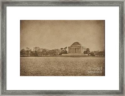 Vintage Style Jefferson Memorial Framed Print