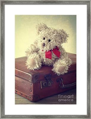 Vintage Suitcase Framed Print by Amanda Elwell