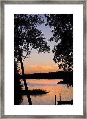 Vintage Sunset Framed Print by Parker Cunningham