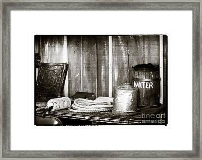 Vintage Supplies Framed Print by John Rizzuto