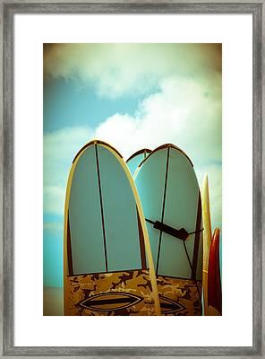 Vintage Surf Boards Framed Print
