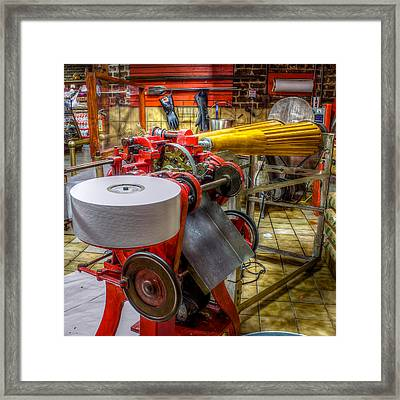 Vintage Taffy Machine Framed Print by Rob Sellers