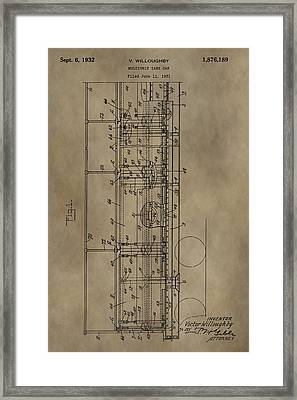 Vintage Tank Car Patent Framed Print by Dan Sproul