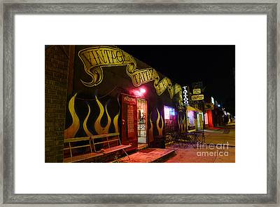 Vintage Tattoo Parlour Framed Print by Nina Prommer
