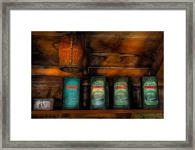 Vintage Tea Leaves Framed Print by Paul Freidlund