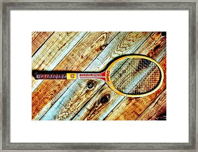 Vintage Tennis Framed Print by Benjamin Yeager